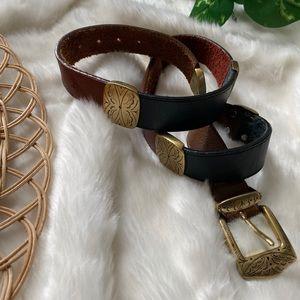 Vintage Brighton MultiColor Leather Belt